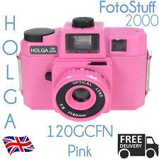 Holga 120-gcfn-pk Rosa Lomo de formato medio Manual Cámara De Película Color Flash del Reino Unido Stk