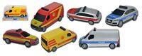 Dickie Polizeiauto,Feuerwehr,Krankenwagen, 14 cm S.O.S.-Patrol, Einsatzfahrzeuge