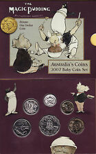2007 BABY SET WITH EXCLUSIVE $1 LINDSAY COIN UNCIRCULATED  RAM  C/V $75