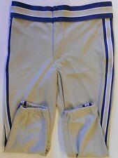 Nos Vtg 80s Rawlings Men's Baseball Pants Size Adult Size Medium Tan & Blue Usa