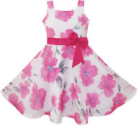Sunny Fashion Flower Girl Dress Pink Floral Party Wedding Boutique Size 4-12