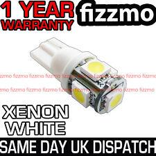 5 SMD LED 501 T10 W5W PUSH WEDGE CAPLESS HID BRIGHT WHITE SIDE LIGHT BULB L@@K