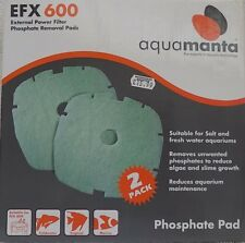 2 x GENUINE AquaManta EFX600 Filter Phosphate Removal Pads - REPLACEMENT MEDIA