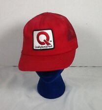 St1060 Red Quality Farm & Fleet Snapback Hat Trucker Style Mesh Back Farmer