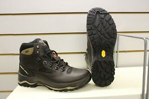 Grisport Quatro Waxy Brown Leather Waterproof Walking / Hiking Boots UK 8 EU 42