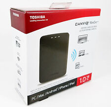 Toshiba Canvio AeroCast with 2TB Upgrade Wireless USB 3.0 HDD PC Mac iOS Android