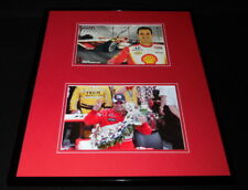 Helio Castroneves Signed Framed 16x20 Photo Set