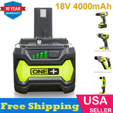 18V 4.0AH For Ryobi One+ Plus P108 Lithium Battery P104 P105 P102 P103 P107 P109