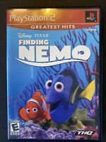 Finding Nemo PS2 Disney Pixar CIB W/Manual Playstation, Kids Game Tested