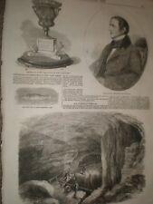 Mammoth Cave Kentucky USA 1859 print ref AX