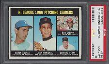 PSA 8 - 1967 Topps #236 Sandy Koufax/Gibson/Marichal/Perry Leaders Dodgers HOF