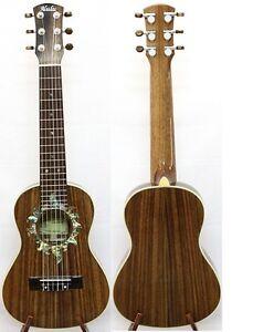 Solid Acacia Koa Tenor Guitarlele, Sun Abalone Rosette, Free Hard Case, HU1245