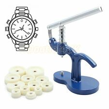 12 Dies Watch Case Back Cover Press Kit Closer Watchmaker Replacement Tool Set