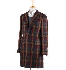 NWT $2445 BOGLIOLI Multicolor Woven Check Wool Overcoat Slim M (38 R) Coat