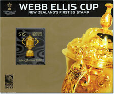 "New Zealand - "" WEBB ELLIS CUP "" New Zealand's First 3D Stamp 2011 !"