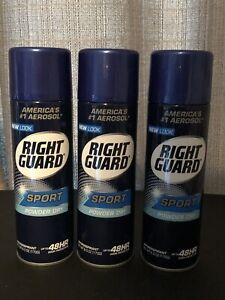 Lot of 3 Right Guard Sport Powder Dry Deodorant 6 oz