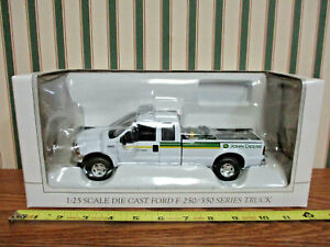John Deere Ford F-250 Sales&Service Pickup With Mower By SpecCast 1/25th Scale