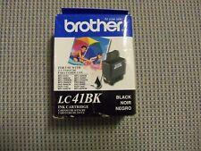NEW GENUINE Brother Black LC41BK LC41 Ink Cartridge Genuine expired