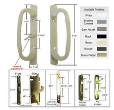 Patio Door Handle Kit with Mortise Lock and Keepers, A-Position, Beige,Non-Keyed