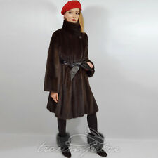 Braun saga Mink fur coat visón abrigo chaqueta nerzjacke abrigo vison visone норка L