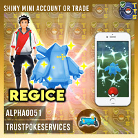 Pokemon Shiny Regice Mini Account or Trade GO