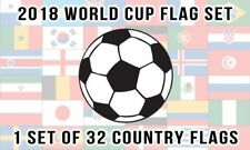 Wholesale Combo Set World Cup 32 Country National 4x6 inch desk Flag Set Banner