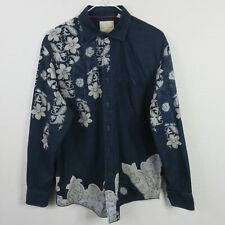 Tommy Bahama Floral Paisley Pattern Long Sleeve Shirt Men's - M