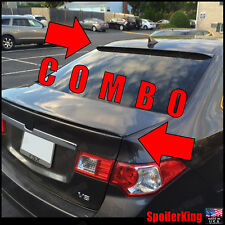 (284R/244L) Fits: Acura TSX 2009-2014 Rear trunk lip spoiler & Roof wing COMBO