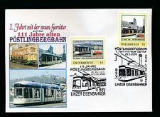 2 person. Marken 111 Jahre Pöstlingbergbahn, 1.Fahrt mit neuer Garnitur   (A30)