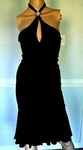 Gianni VERSACE Vintage Medusa Logo Black Wiggle LBD Cocktail Dress US 2 4 IT 38