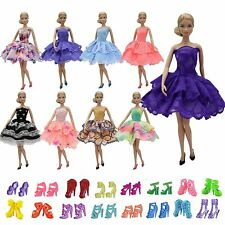 ZITA ELEMENT 10 Sets 11.5'' Girl Doll Outfits = 5x Mini Party Dress + 5x Shoes