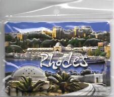 Greece Souvenir Fridge Magnet Rhodes Port 9.5cm X 6.5cm
