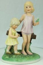 Frances Cook, Sisters, from a Child' World 1981 #0795 Ceramica Excelsis by Roman
