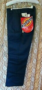 1980's/90's NEW OLD STOCK DICKIES TWILL WORK PANTS,DARK BLUE,SZ.W 32 L 31,TAGS