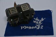 Tefillin Pair of High Quality 100% Kosher Tefilin Phylacteries with Free Bag NEW
