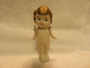 Vintage/Antique Japan Gold-Haired Bisque Penny or Frozen Charlotte Girl Doll