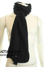 BNWT TOMMY HILFIGER MEN'S BLACK SOFT PIMA CASHMERE KINTTED SCARF H180CM XW25CM