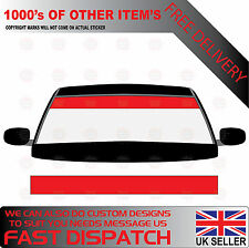 GLOSS RED WINDSCREEN SUNSTRIP 1800mm x 190mm VAN DECALS GRAPHICS STICKERS