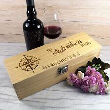 Personalised Wooden Wine Box - Engraved Adventure Beings Wedding Wine Gift Box