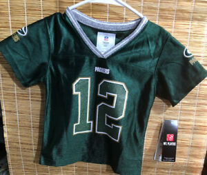 Aaron Rodgers Green Bay Packers Football Jersey NFL -Girls 18 Months-Blink
