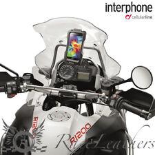 INTERPHONE GALAXY S5 SUPPORT TÉLÉPHONE PORTABLE POUR TUBULAIRE GUIDONS DE MOTO