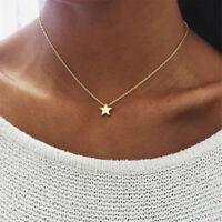 1x Minimalism Small Star Pendant Necklace Pentagram Chain Choker Gold Jewelry