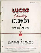 Lucas TRIUMPH/STANDARD Electrics - Car Equipment & Spare Parts - 1961 - CCE902K
