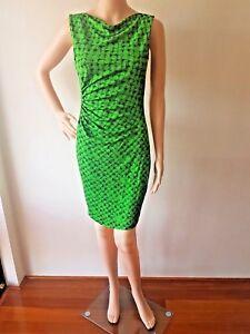 DIANE VON FURSTENBERG Ladies Green Sleeveless Knee Length Dress Size: 8 EC