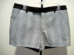 Nanette Lepore Sound Enamel Leather Shorts Animal Print Size 6