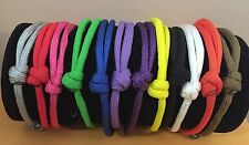 12 Paracord Adjustable Whelping Id Collars In Nb & Reg Solid Colors As Pictured
