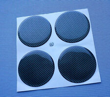 (3D 60C) Carbon Lock 4x  Embleme für Felgendeckel 60mm Silikon Aufkleber
