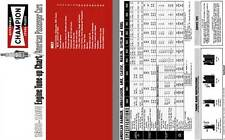 Champion Spark Plugs 1959 - 1968 Engine Tune-up Chart / American Passenger Cars