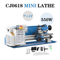 "7"" x 14""Precision Mini Metal Milling Lathe Variable Speed 550W 2500 RPM TOP"