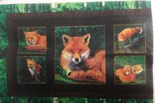 RED FOXES Quilt KIT Fox Spring Trees Forest Wood Bark Fabric Pattern Included